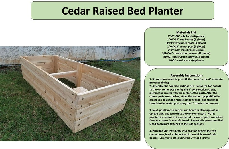 Build Your Own Cedar Raised Bed Planter