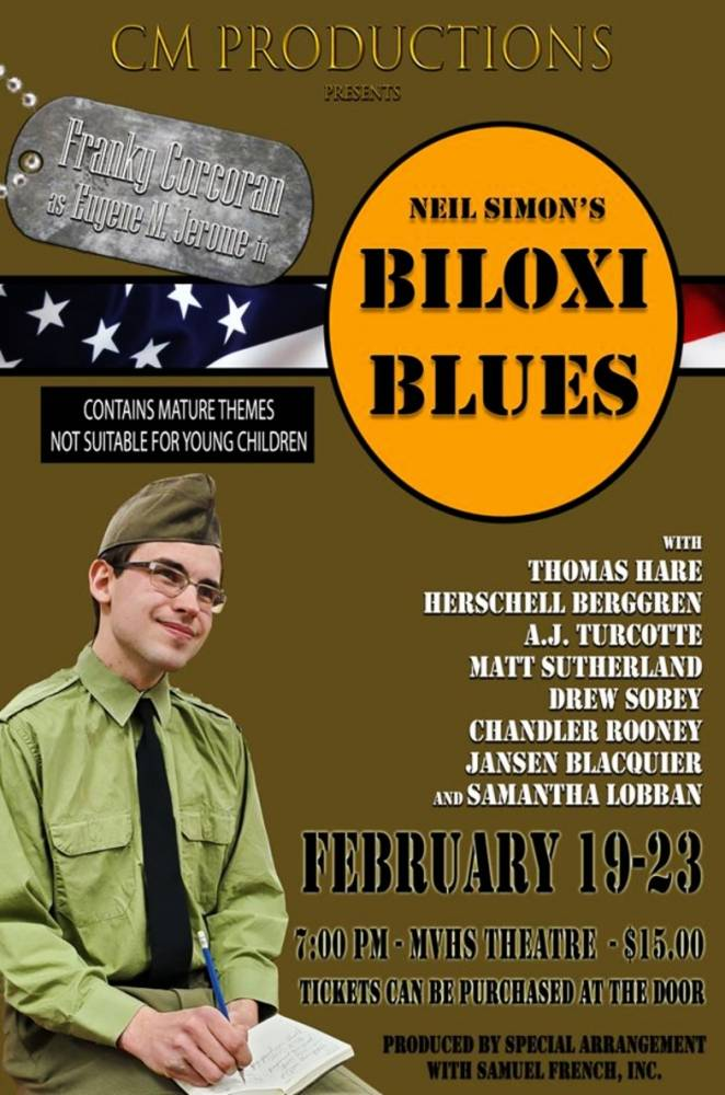Miramichi Valley High School Drama Club Presents Biloxi Blues