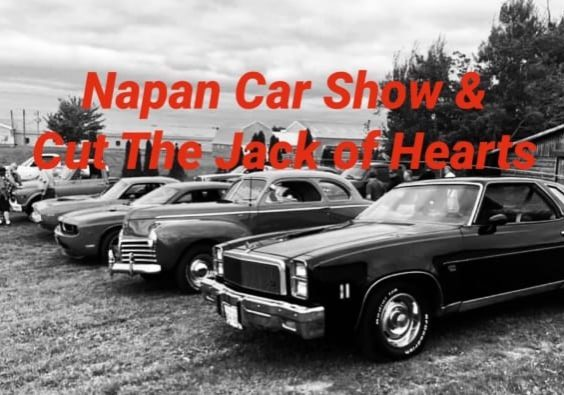Napan Car Show and Cut the Jack of Hearts Under the Roof!